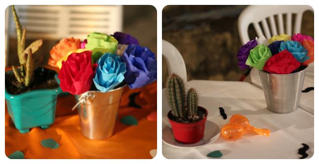 Festa mexicana das coisinhas for Centros de mesa para restaurantes