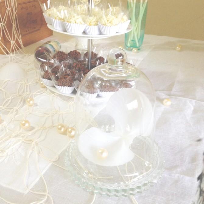 detalhes mesa festa sereia