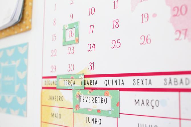 calendario para geladeira