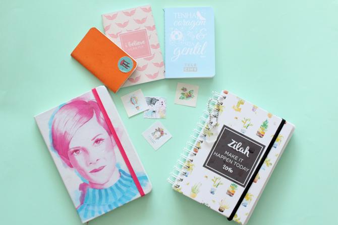 caderninhos de organização