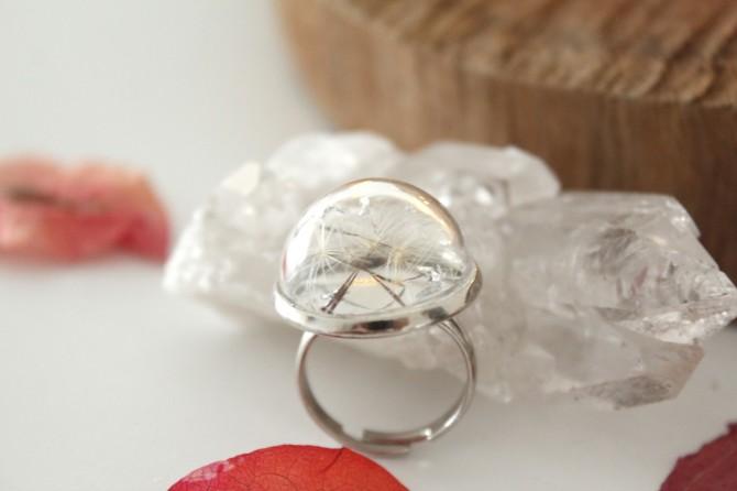 anel dente de leao prata