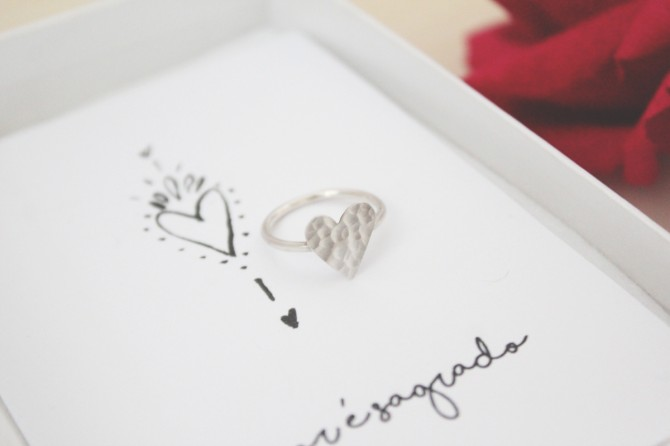 anel coração kit